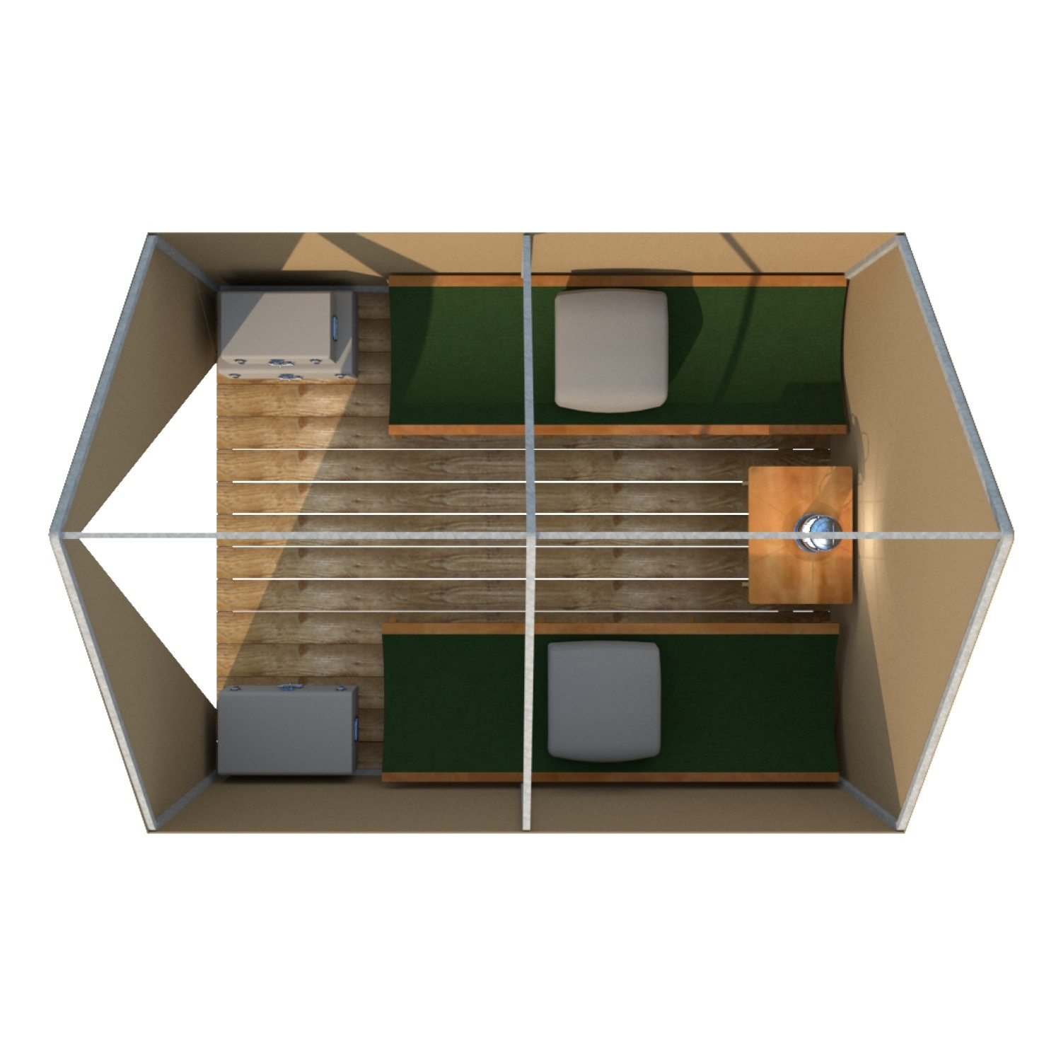 7090 scout tent layout with furniture