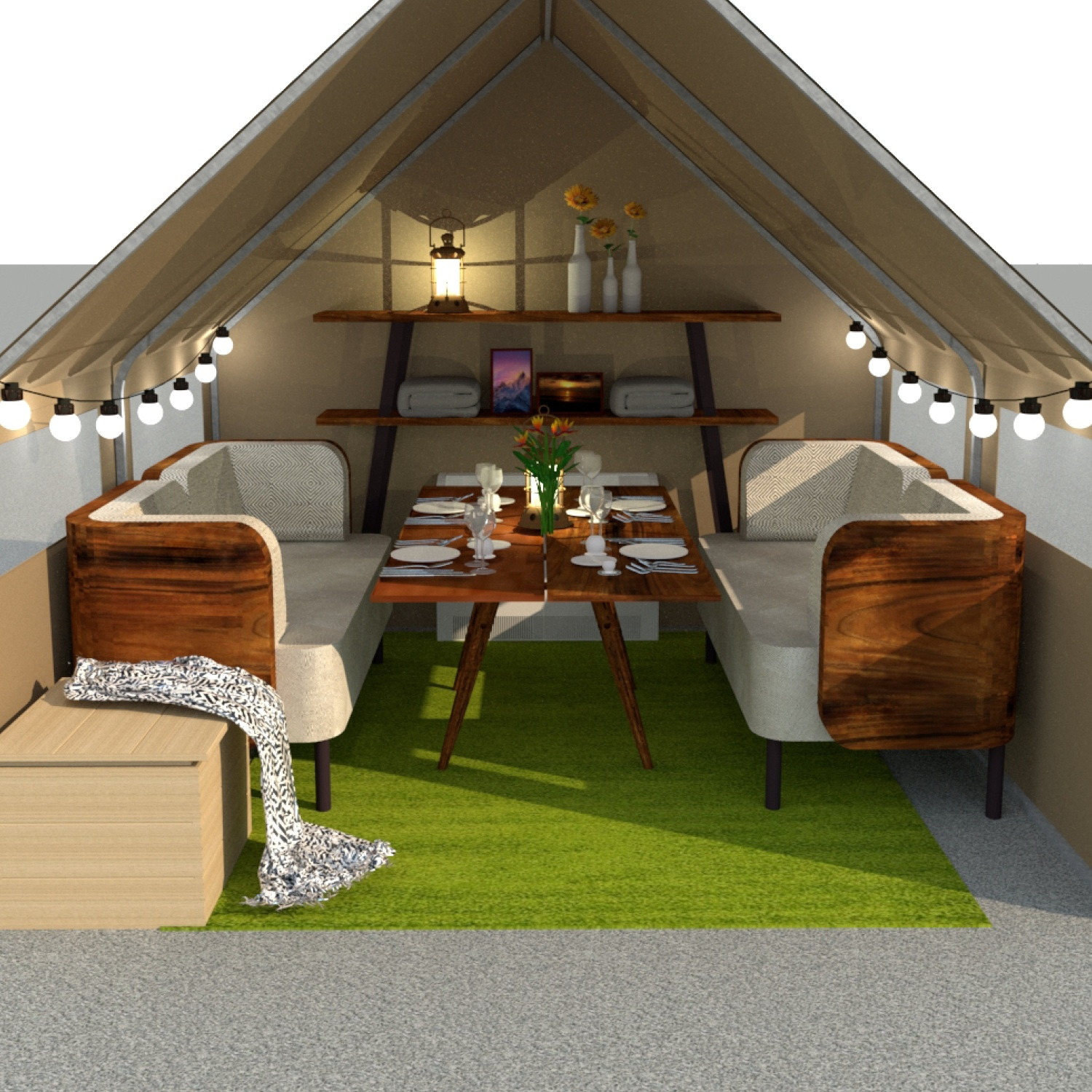 Wall Tent for dining